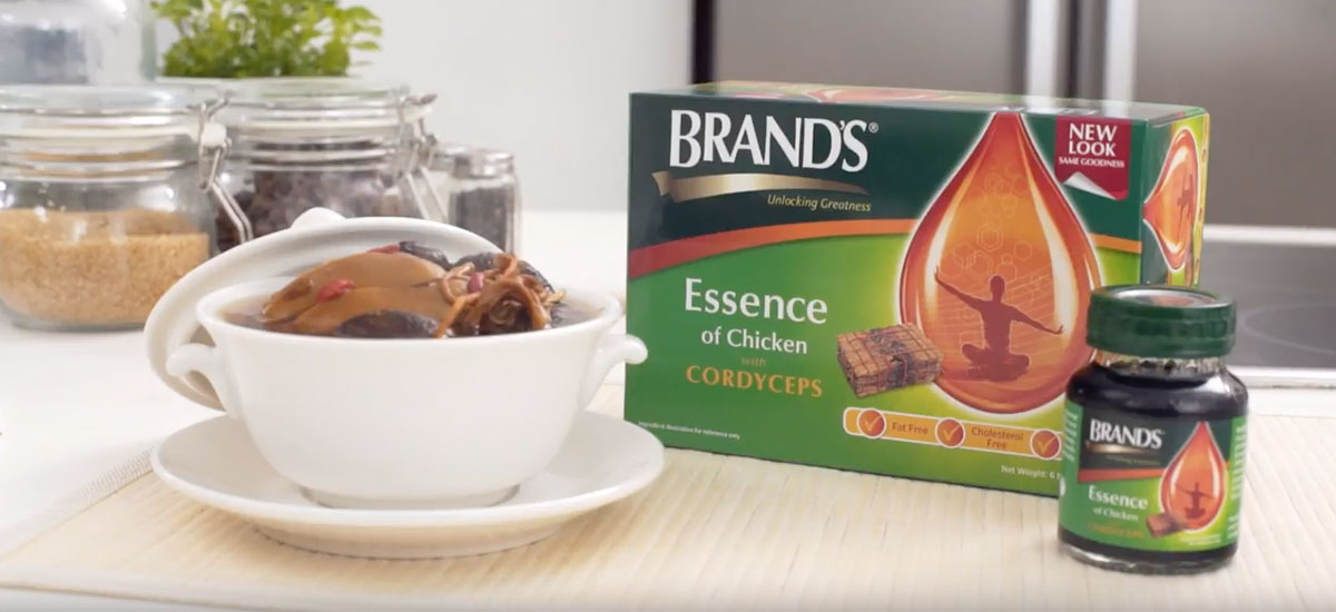 Dose of Goodness: BRAND'S® Essence of Chicken with Cordyceps Recipe masthead